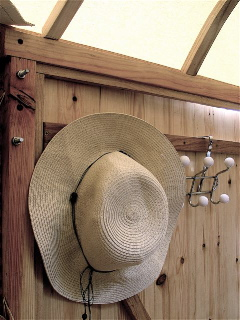 Hat on Coat Hook