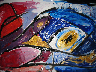 Abstract Art Therapy Work